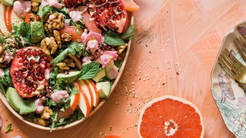 salad orange food